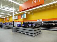 Back Dairy Wall (Nicholas Eckhart) Tags: usa retail mi america us closed market michigan interior walmart inside former dairy stores groceries storeclosing hartland liquidation 2016 supercenter walmartsupercenter