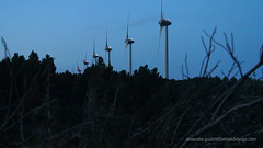 Windmill Dusk (Sailor Alex) Tags: france landscape windmills giants windpower windgeneration languedocroussilon