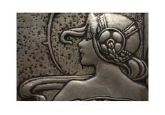 Art Nouveau Head (Pictures from the Ghost Garden) Tags: sculpture art design scotland nikon gallery glasgow 28mm relief galleries artnouveau cast ornate nouveau museums exhibits kelvingrove voigtlnder rennie charlesrenniemackintosh mackintosh colorskopar d7100