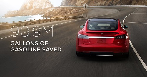 Leaving gasoline behind us, off to 3B miles! #Tesla #cars #electric