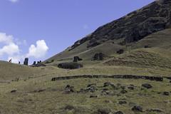 Rano Raraku (blueheronco) Tags: statues pacificocean moai easterisland quarry tuff rapanui isladepascua ranoraraku volcaniccrater rapanuinationalpark