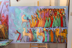 Alaa Awad - A day in the home of an artist (kairoinfo4u) Tags: egypt cairo luxor ägypten finearts aluqsur albalyana alaaawad