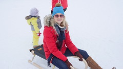on a sledge (Madleeeen) Tags: family winter snow ski cold austria skiing hats sunny amelie grandparents kaiser wilder sledge sledging