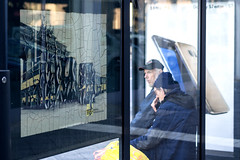 Bus Stop, Berlin (Fliwatuet) Tags: berlin germany schneberg de deutschland busstop panasonic ostern bushaltestelle bvg m43 mft blowstr em5 berlinerverkehrsbetriebe 20mm17 olympusomd