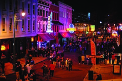 Crowds on Beale Street
