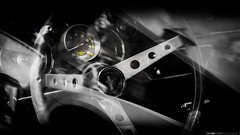 [ Intrieur | Ford Mustang ] ([ YOANNOLIVIER | Photographie ]) Tags: old school bw white black ford beauty car wheel canon eos automobile muscle dream american mustang supercar v8 rpm 6d