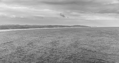 Byron Bay, New South Wales (russellstreet) Tags: blackandwhite bw cloud beach water australia newsouthwales byronbay capebyron