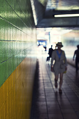 It all happens in a micro second~ Tokyo (~mimo~) Tags: street woman blur color hat japan tokyo asia tunnel stranger mimokhairphotography