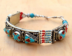 Nepali Tibetan Bracelet,Coral Turquoise Bracelet,Ethnic Bracelet,Nepalese Jewelry,Boho Gypsy Bracelet,Festival Hippie Bracelet (CraftEast) Tags: coral festival stone vintage dance handmade antique turquoise hippy jewelry tribal jewellery belly bracelet hippie bangle etsy boho ethnic gypsy bohemian tuareg turkmen
