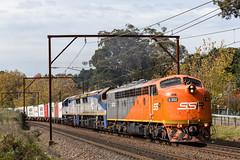 "2016-04-29 SSR S302-VL354-VL353 Leura 1845 (Dean ""O305"" Jones) Tags: railroad blue mountains west au main australia line southern nsw newsouthwales ssr leura 1845 shorthaul cfcla s302 vl354 vl353"
