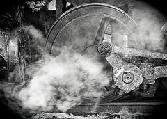 Steam No2 B&W (Charlie Day DaytimeStudios) Tags: ca railroad usa cloudy trains earlyspring railroadtracks fremontca sunolca railequipment trainsrailroads nilesrailroad nilecanyon sunfremont
