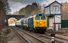 Class 50's no's 50017, 50050, 37905,41001 & 50007 Head through Melton Mobray Station on 31-03-2016 with a Leicester to Darehem move. (kevaruka) Tags: uk greatbritain england cloud sun color colour colors sunshine station clouds train canon march town spring flickr colours cloudy leicestershire unitedkingdom railway sunny trains explore trainstation gb 5d hoover frontpage britishrail semaphore sunnyday midlands signalbox cloudyday englishelectric class50 networkrail 41001 50007 37905 50050 50017 canon5dmk3 meltonmobray 5dmk3 5d3 5diii canon70200f28ismk2 canoneos5dmk3 31032016