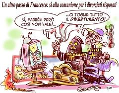 Bye Bye Inquisizione! (Moise-Creativo Galattico) Tags: gay papa vignette satira francesco attualit moise giornalismo bergoglio comunione editoriali moiseditoriali editorialiafumetti divorziati