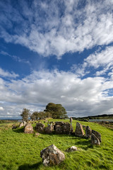 Family visits Knockoneill Court Tomb (backpackphotography) Tags: ireland megalithic court photography ancient rocks stones tomb londonderry backpack prehistoric hdr derry megalith northern ireland tomb court knockoneill knockoneill