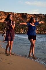 Zhanna & Nazira (lauramramrodr) Tags: sea summer sun seascape beach golden bay sand malta melita mellieha gajn tuffiea