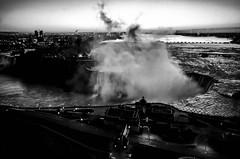 Niagara Sunrise (Marcela McGreal) Tags: blackandwhite bw white newyork ontario canada black byn blancoynegro blanco branco sunrise niagarafalls blackwhite noir noiretblanc negro preto niagara bn bianco blanc nero pretoebranco schwarz bianconero bnw biancoenero noirblanc blanconegro pretobranco weis schwarzundweis