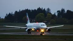 Air Canada 190 (C McCann) Tags: canada sunrise airport bc britishcolumbia aircraft aviation flash victoria vancouverisland international airline airbus beacon sidney a320 rotate aircanada cyyj yyj airlienr aircanada190