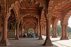 Diwan-i-Am (marko.erman) Tags: city red india architecture sandstone delhi sony arches palace unesco worldheritagesite emperor redfort shahjahan mughal diwaniam hallofaudience