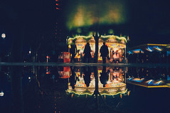 Up side down (Samy.Jourdan) Tags: street uk winter light england france reflection london wet childhood thames children explore londres angleterre exploration rennes manege samy chil jourdan razer