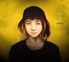 (Donathello Gualy) Tags: she woman art girl yellow lady digital mujer artwork paint arte draw dibujo mirada diseo simbolismo asiatico  donathellogualy
