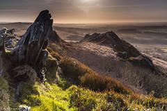 Backlight on Roc'h Trevezel (Traezh) Tags: landscape bretagne breizh mont brilliant contrejour roch roches finistre landes fantaisy pennarbed montsdarre commana schistes trevezel yeunelez