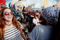 Untitled (nzkphotography) Tags: street travel summer people streetart colors girl israel telaviv streetphotography east middle drumcircle ricohgr 21mm 2016 gw3