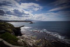 Sentier littoral (Mariane's Tree) Tags: sun france spring wave lowtide midday atlanticocean saintjeandeluz basquecoast