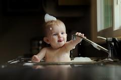 Splish Splash (Sonya Adcock Photography) Tags: baby window fun kid soap nikon bath infant child sink bubbles splash nikkor windowlight nikond700 nikkor105mmdc