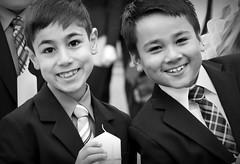 Kommunion (Elis Abeth) Tags: white black boys smile germany children happy deutschland child group kinder weiss schwarz jungs lcheln glcklich