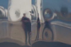 118 (mjwpix) Tags: portrait selfportrait hoarding 118 distortedreflections ef135mmf2lusm canoneos5dmarkiii cosimomatteini michaeljohnwhite mjwpix
