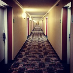 They make looooong hotel corridors in No by mmahaffie, on Flickr