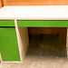 White and green desk