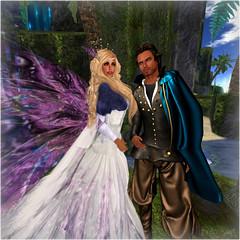 Scarlett & Randall ~ Fantasy Faire ~ Cerridwen (scarlettelizabet) Tags: costume couple avatar medieval sl fantasy secondlife cape gown twa heathcliff junbug fantasyfaire thewhitearmory