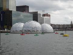Rotterdam: Rijnhaven with Floating Pavilion (harry_nl) Tags: netherlands nederland 2016 rotterdam rijnhaven sphere floatingpavilion drijvendpaviljoen publicdomain architecten