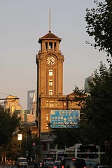 Shanghai, West Nanjing Rd., Race Club (blauepics) Tags: china road city light house west building tower architecture club race evening shanghai haus stadt architektur late nanjing turm gebude jiangwan abendlicht schanghai kiangwan