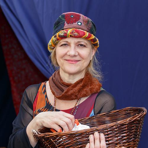 Medieval sales woman