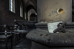 Blue Christ Church (Sbastien Marion Photography Urbex) Tags: blue abandoned church architecture canon ruins christ decay exploring places ruine forgotten urbanexploration glise btiment deserted decayed urbex verval verlaten leegstaand 60d