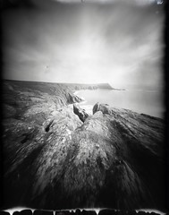 Pendower Coves (Mark Rowell) Tags: uk bw film cornwall pinhole instant 4x5 largeformat zeroimage 5x4 zero45 new55 pendowercoves zawnkellys