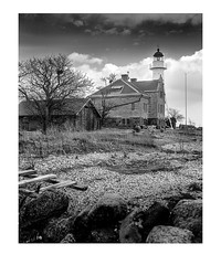 Hogby Lighthouse (Theolde) Tags: film kodak 4x5 lf tmax100