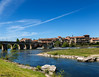 Millau (William MacGregor) Tags: old bridge houses sky cloud house france water skyline architecture clouds canon river french landscape photo europe european waterfront image outdoor ngc bridges historic viaduct 5d dslr riverbank millau damncool millauviaduct 50d yourbestoftoday macgregorwilliam