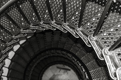 Spiral stairs of Yaquina Head Lighthouse (julesnene) Tags: lighthouse oregon stairs spiral oregoncoast pacificcoast spiralstaircase fresnellens yaquina yaquinabay yaquinaheadlight julesnene juliasumangil capefoulweatherlighthouse yaquinaheadlighthouseyaquinaheadlighthouse