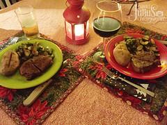 December 26, 2015 (Carole Julius) Tags: christmas fiestaware steaks christmasdinner dinnerfortwo project365 yip2015