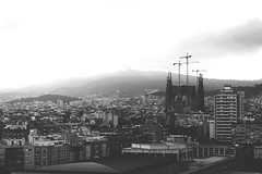 B&W Barcelona (myerslaura) Tags: barcelona city vacation blackandwhite holiday architecture contrast spain europe cityscape architecturaldetail grayscale sagradafamilia europeancity citybreak heavygrey