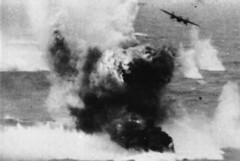 Amatsukaze Explosion (International Historical Research Associates) Tags: wwii destroyer worldwarii ww2 warbird worldwar2 b25 amatsukaze warpathacrossthepacific