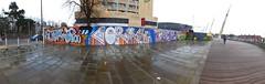 Millennium Walkway street art by Ceres and Sleep (DJLeekee) Tags: streetart buzz graffiti glasses design risk stadium sleep cardiff millennium walkway ceres yrp ncf rivertaff