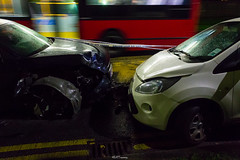 RTC at Petts Hill, Northolt (LFaurePhotos) Tags: life road cars night crash vehicle middlesex westlondon newyearsday collision auditt fordka a312 northolt pettshill