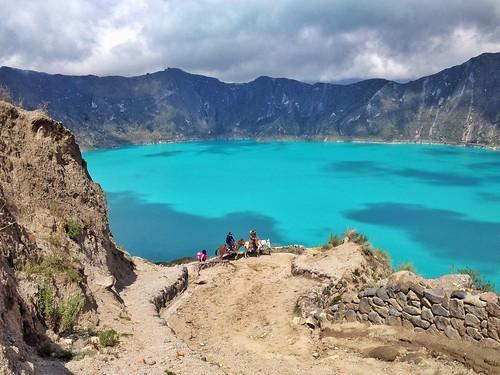 Laguna Verde - Volcán Quilotoa - Ecuador
