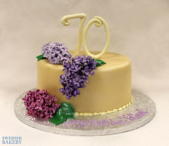 Lilacs and Curly Numbers Birthday (Swedish Bakery Chicago) Tags: cakes cake purple lilac marzipan swedishbakery