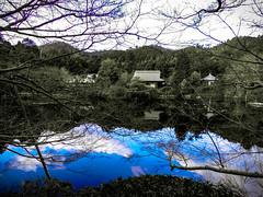Shashin - DSCN2971 (Mathieu Perron) Tags: life city bridge blue people bw white black monochrome japan nikon kyoto noir perron daily nb bleu journey   mp blanc  japon personne ville gens vie mathieu   sjour    quotidienne  ryanji     p520  zheld