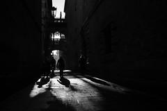 Three shades (sergi_escribano) Tags: barcelona street light blackandwhite blancoynegro monochrome architecture sunrise contraluz calle spain arch streetphotography catalonia amanecer catalunya sombras backlighting monocromtico carrerdelbisbe streetsofbarcelona barrigoticdebarcelona